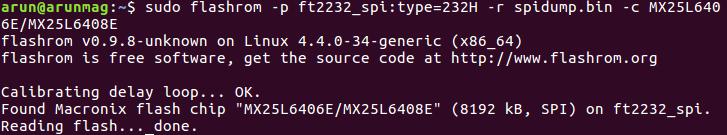 SPI memory dumping on IoT device