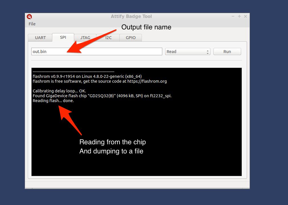Firmware dumping using SPI