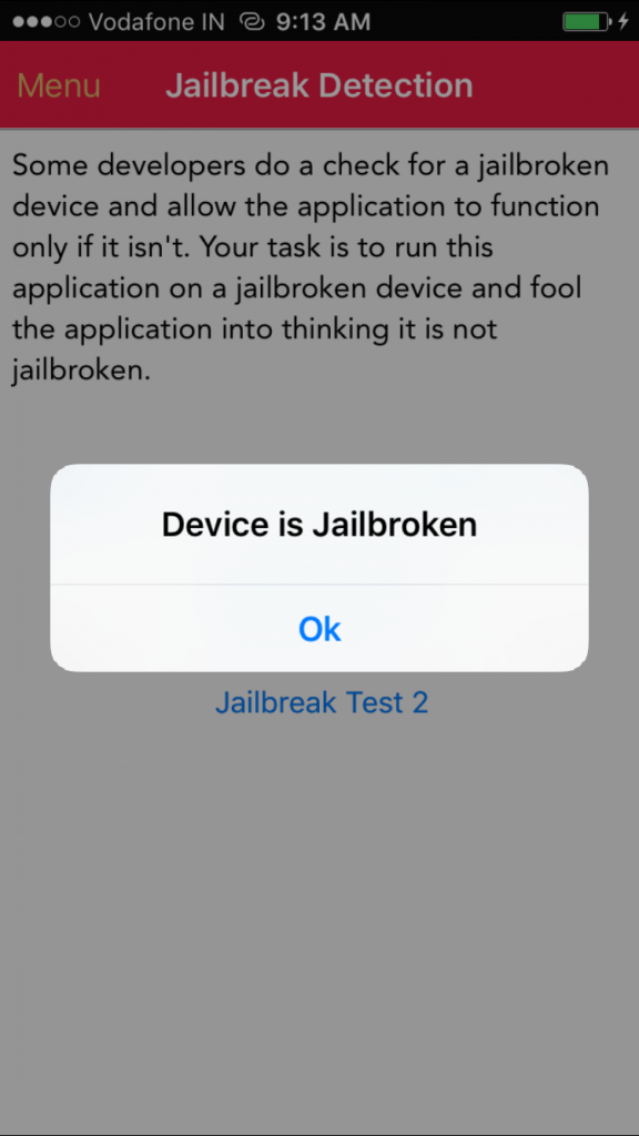 Device is Jailbroken