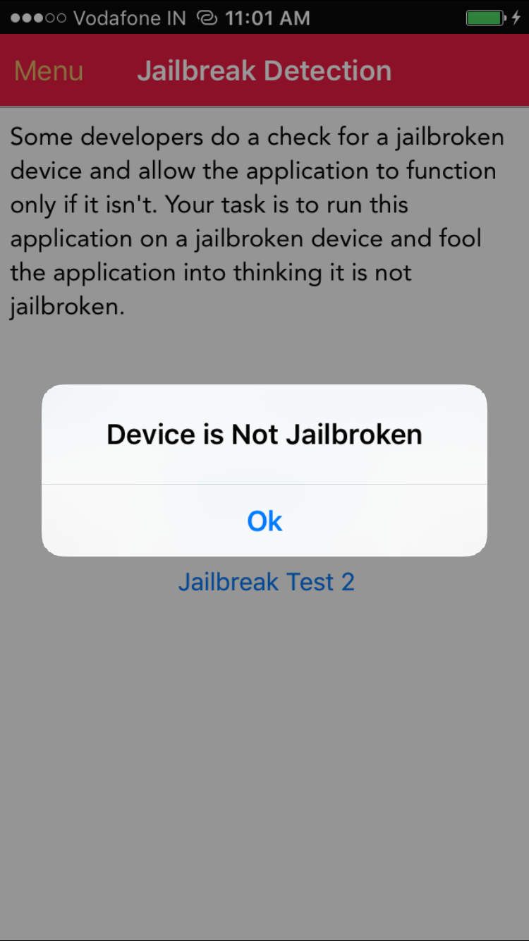 Jailbreak Detection Bypass - Device is Not Jailbroken