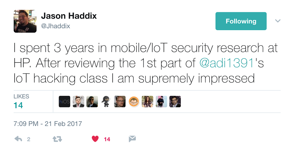 IoT Hacking training review