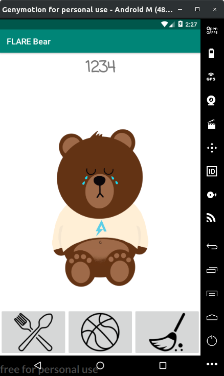 Figure 3 - The bear is not happy!