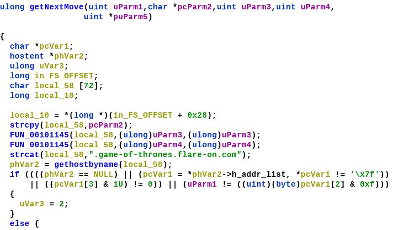 Figure 7: Decompiled code of getNextMove