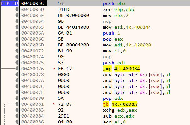 Figure 3: This does not look to be generated by a standard compiler