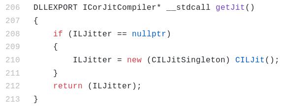 Figure 9: getJit implementation in coreclr