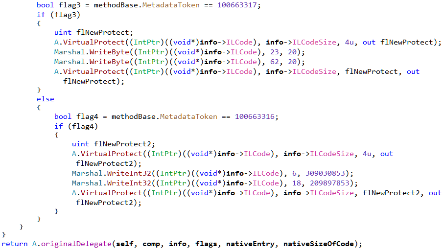 Figure 12: IncrementMaxStack method implementing the hook