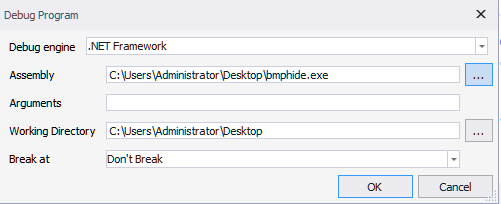 Figure 27: Setting up debugging in dnSpy