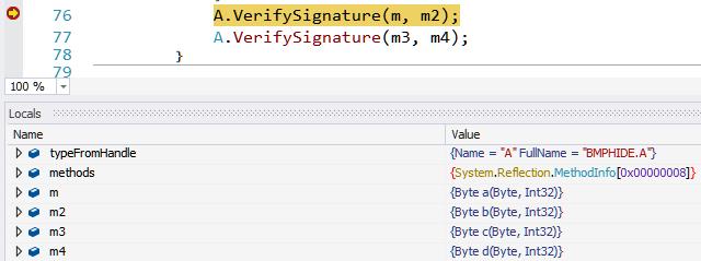 Figure 30: Breakpoint on VerifySignature