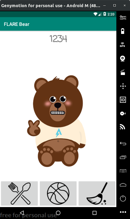 Figure 2 - The bear is happy!