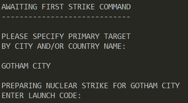 Figure 3: Thermonuclear war