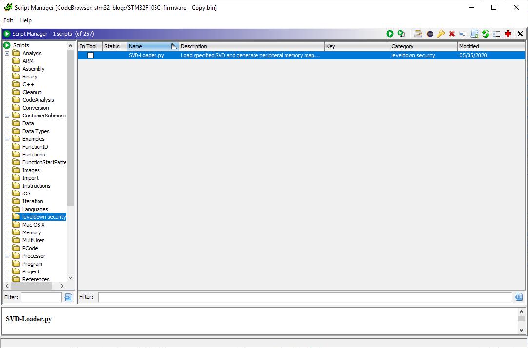 SVD-Loader in Ghidra script manager