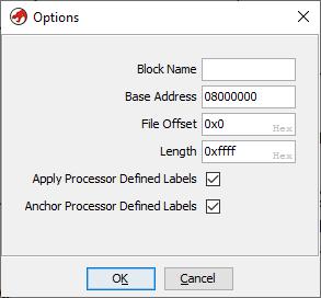 Setting the base address